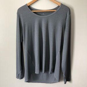Athleta Shimmer Chi Long Sleeve Gray XL